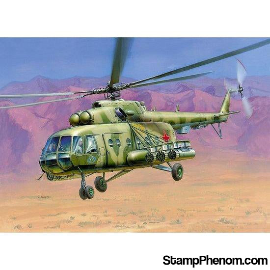 Zvezda - Russian Mi-8MT HIP-H Assault Helicopter 1:72-Model Kits-ZveZda-StampPhenom