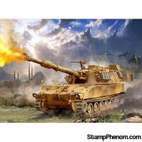 Zvezda - US 155mm Self-Propelled M109A2 Howitzer (Snap Kit) 1:100-Model Kits-ZveZda-StampPhenom