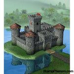 Zvezda - Medieval Stone-Type Castle with Center Tower 1:72-Model Kits-ZveZda-StampPhenom