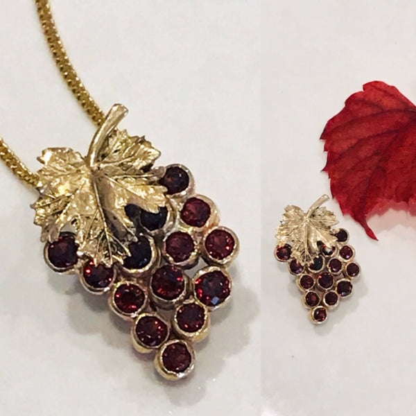 Grape Pendant/Brooch