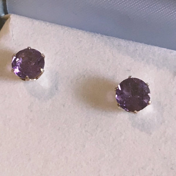 February Birthstone Studs