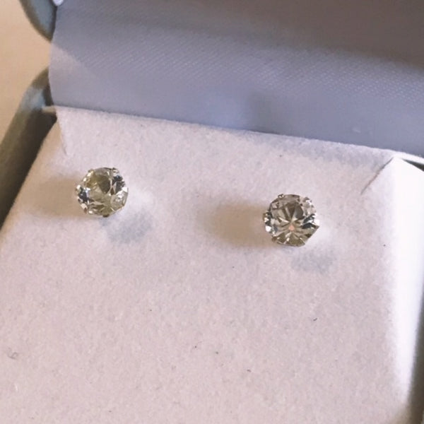 April Birthstone Studs