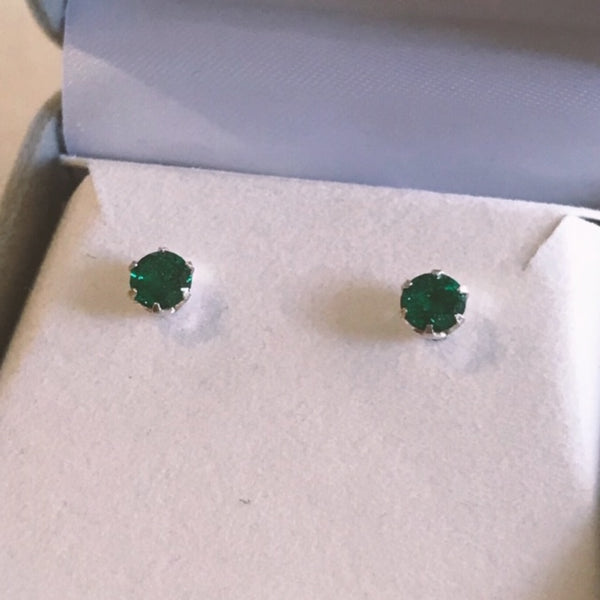 May Birthstone Studs