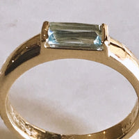 Aquamarine Baguette Ring