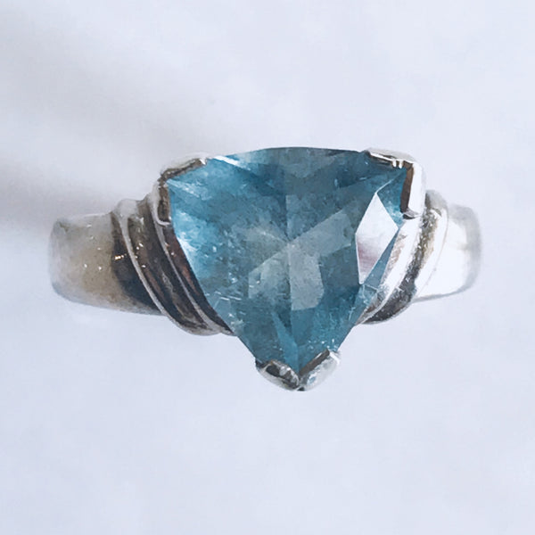 Aquamarine Trilliant Ring