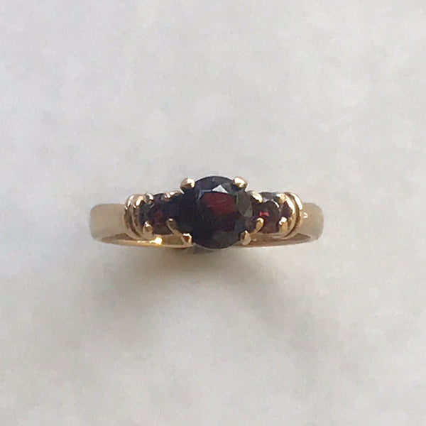 Garnet Trilogy Ring