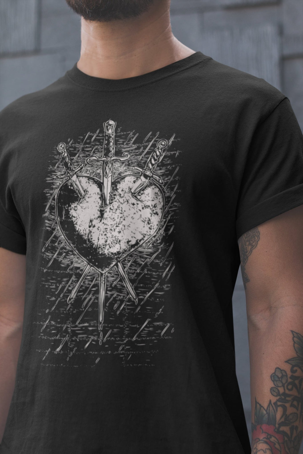 Three of Swords Unisex Tee - Cemetery Swag