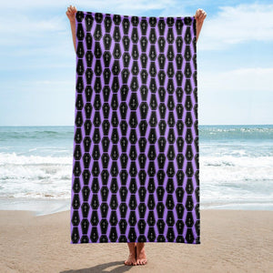 Purple Coffins Towel - Cemetery Swag
