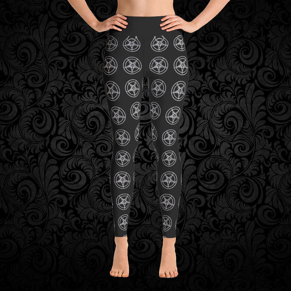 Pentagram Yoga Pants - Cemetery Swag