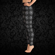 Load image into Gallery viewer, Pentagram Yoga Pants - Cemetery Swag