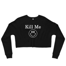 Load image into Gallery viewer, Kill Me Crop Sweatshirt - Cemetery Swag