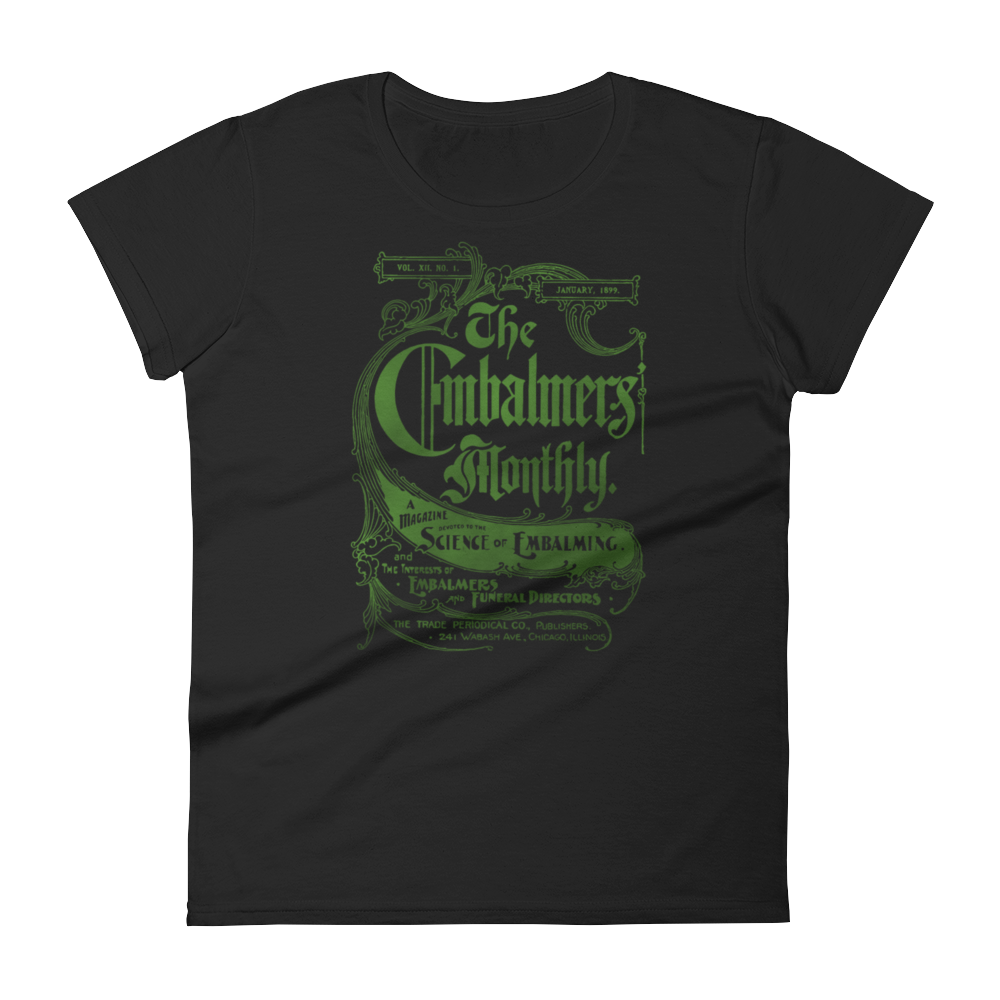 The Embalmer's Monthly Slim Fit Tee - Cemetery Swag
