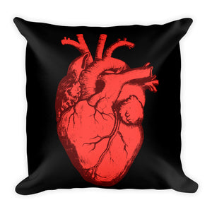 Eat Your Heart Out Throw Pillow - Cemetery Swag