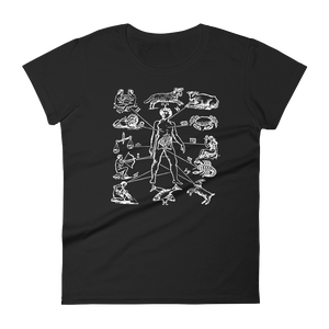 Zodiac Dissection Slim Fit Tee - Cemetery Swag