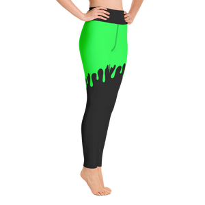 Green Slime Yoga Pants - Cemetery Swag