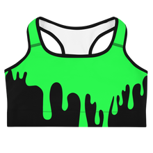 Load image into Gallery viewer, Green Slime Sports Bra - Cemetery Swag