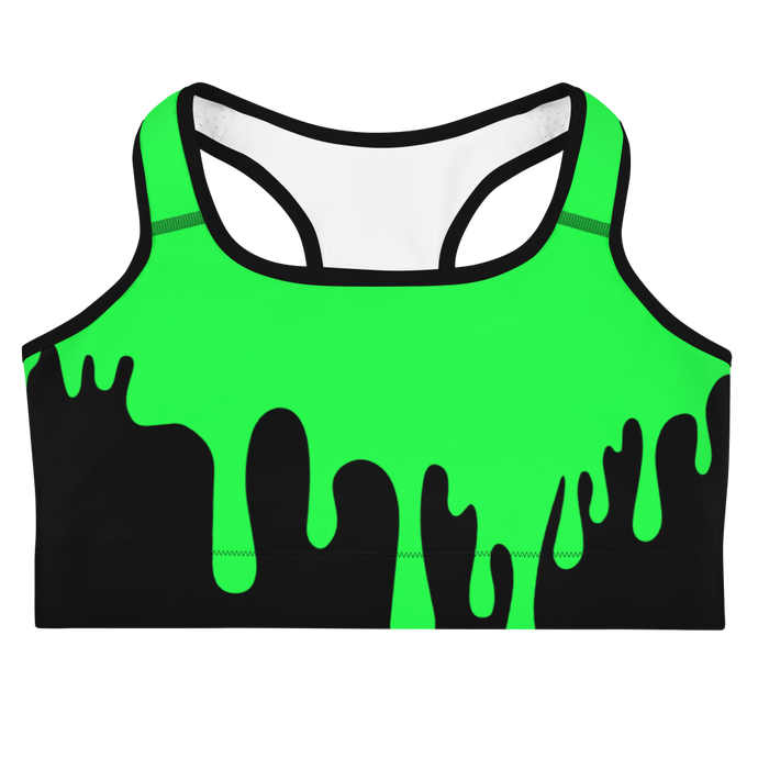 Green Slime Sports Bra - Cemetery Swag