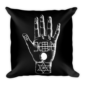 Palmistry Throw Pillow - Cemetery Swag