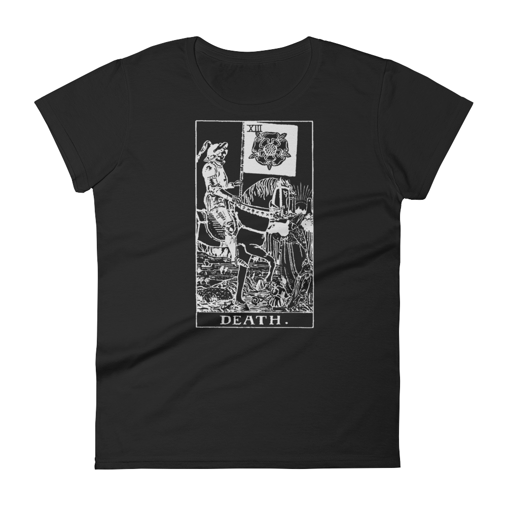 Death Card Slim Fit Tee - Cemetery Swag