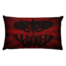 Load image into Gallery viewer, Mothra Throw Pillow - Rectangular - Cemetery Swag