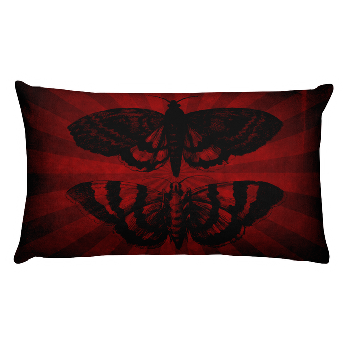 Mothra Throw Pillow - Rectangular - Cemetery Swag