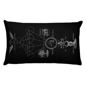 Alchemy Throw Pillow- Rectangular - Cemetery Swag