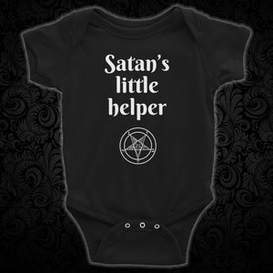 Satan's Little Helper Infant Bodysuit - Cemetery Swag