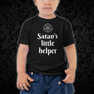 Satan's Little Helper Toddler Tee - Cemetery Swag