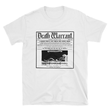 Load image into Gallery viewer, Death Warrant Unisex Tee- White - Cemetery Swag