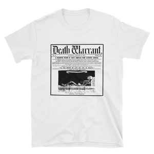 Death Warrant Unisex Tee- White - Cemetery Swag