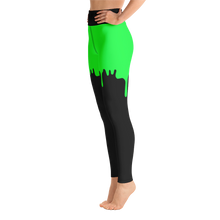 Load image into Gallery viewer, Green Slime Yoga Pants - Cemetery Swag