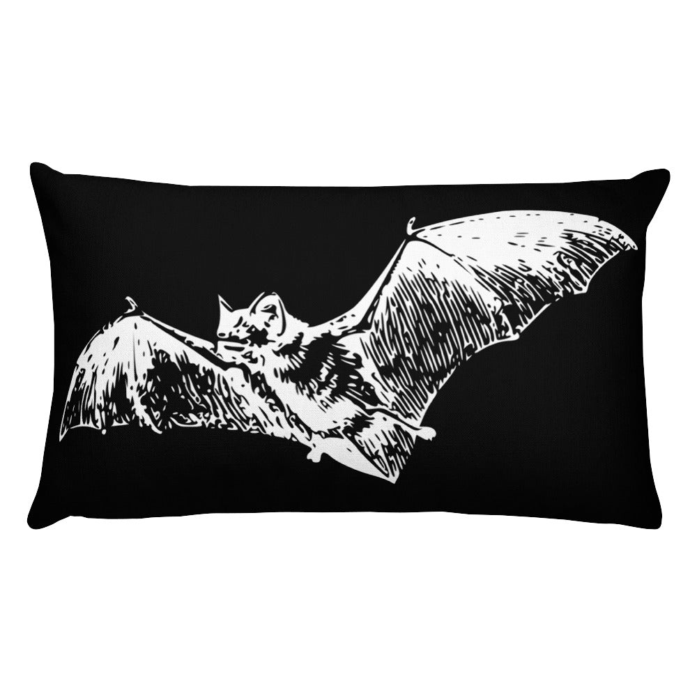 Bat Throw Pillow- Rectangular - Cemetery Swag