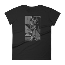 Load image into Gallery viewer, Time's Up Skeleton Slim Fit Tee - Cemetery Swag