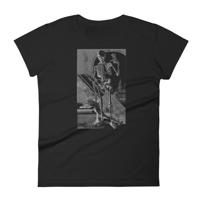 Time's Up Skeleton Slim Fit Tee - Cemetery Swag