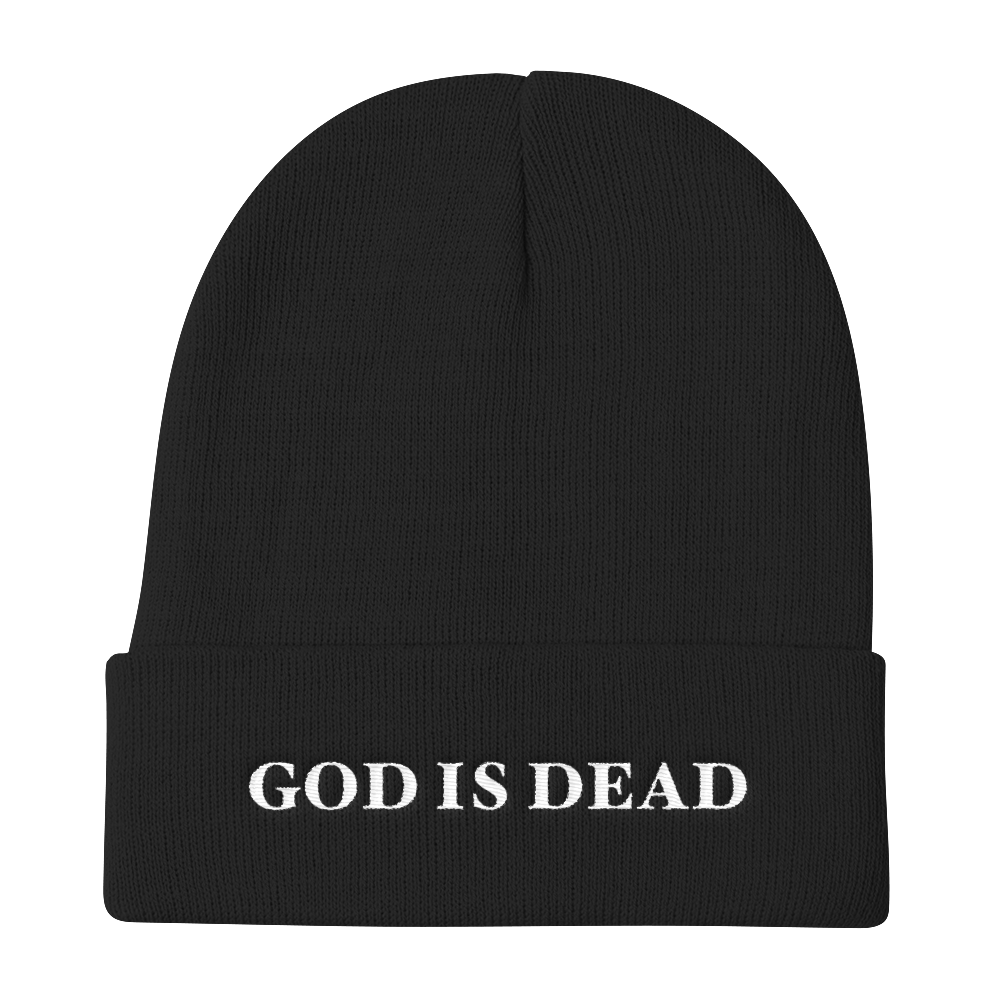 God Is Dead Knit Beanie - Cemetery Swag