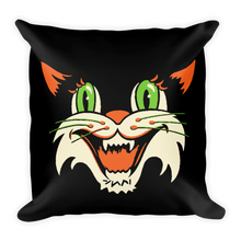 Load image into Gallery viewer, Vintage Halloween Cat Throw Pillow- 2 - Cemetery Swag