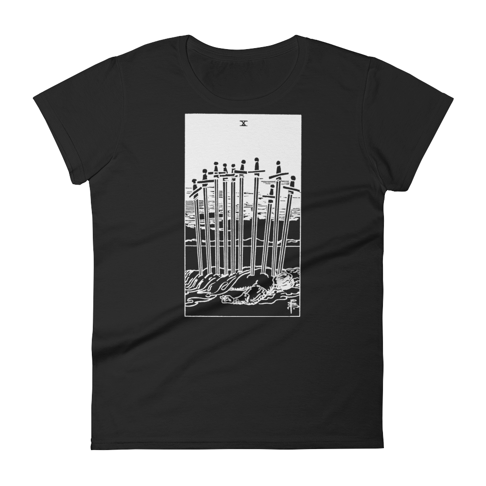 Ten of Swords Slim Fit Tee - Cemetery Swag