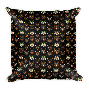 Vintage Halloween Cat Throw Pillow- 2 - Cemetery Swag
