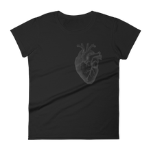 Load image into Gallery viewer, Heart On My Sleeve Slim Fit Tee - Cemetery Swag