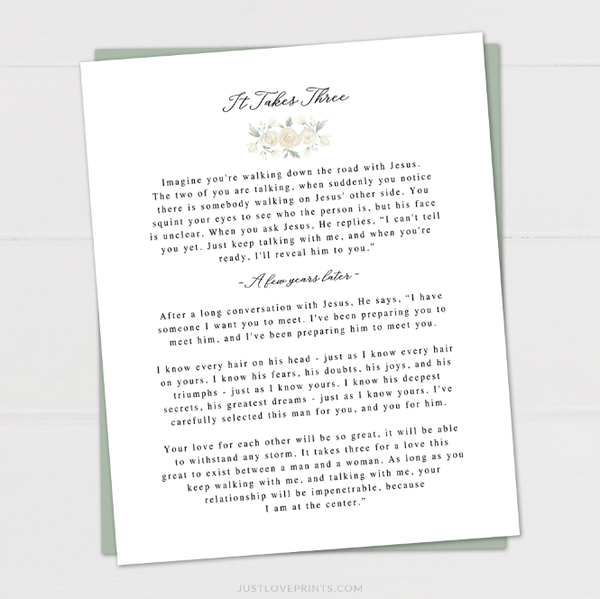 Printable Jesus Love Letter