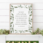 G.K. Chesterton Family Quote | 18x24 Print