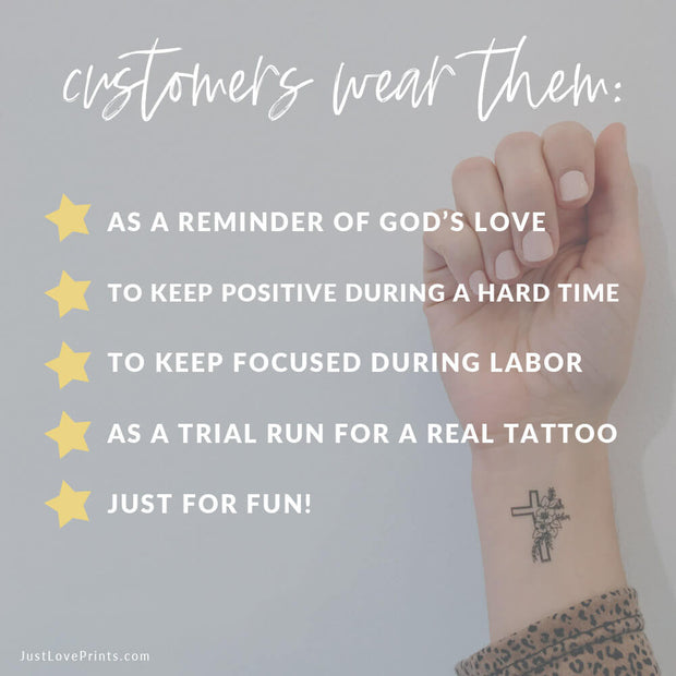 """Immaculate Heart Collection"" Temporary Tattoos"