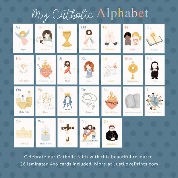 Catholic ABC 4x6 Print Set