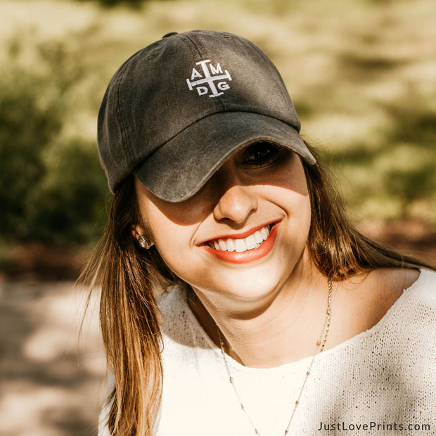 "LAST CHANCE! ""AMDG"" Embroidered Baseball Cap"