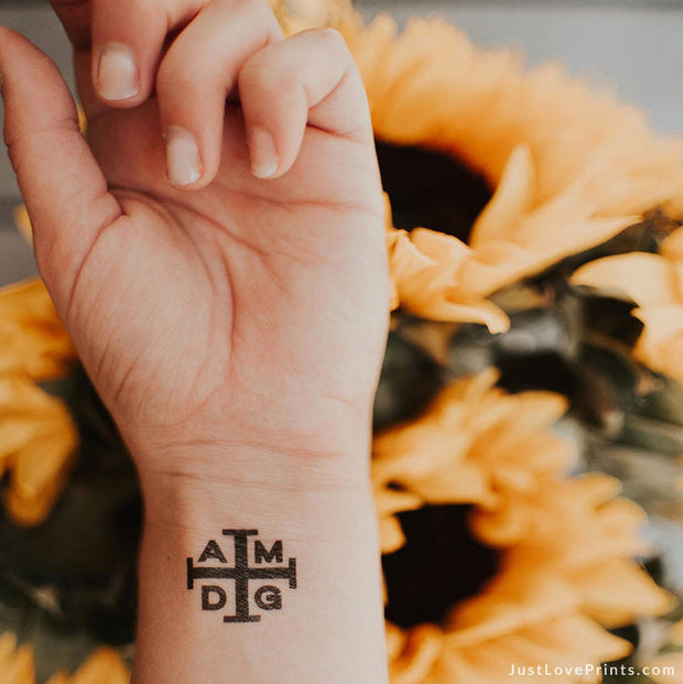 """AMDG Collection"" Temporary Tattoos"