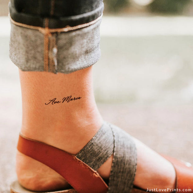 """Ave Maria Collection"" Temporary Tattoos"
