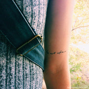 """Be Not Afraid"" Temporary Tattoos"
