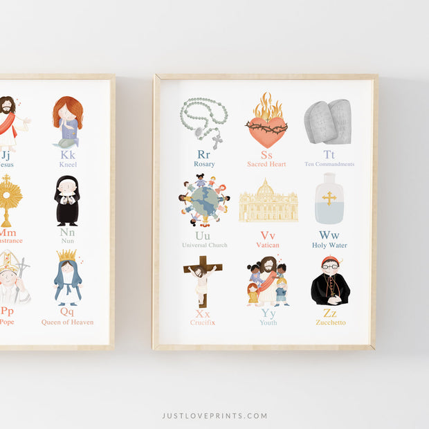 Catholic Alphabet Prints