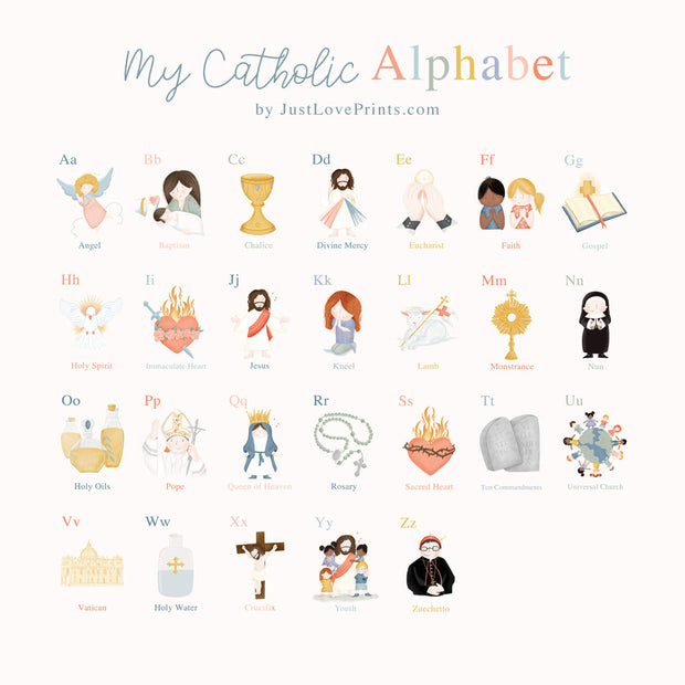 Catholic ABC Coloring Bundle PDF