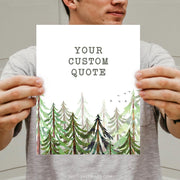 Custom | Forest Watercolor